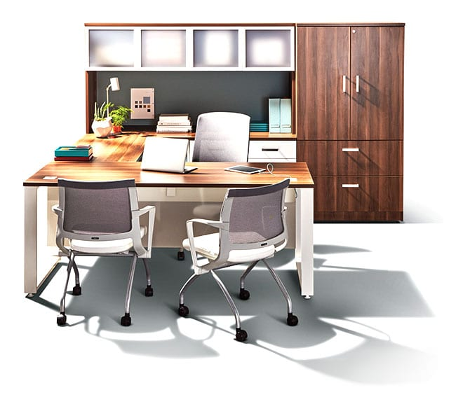 Office furniture grouping